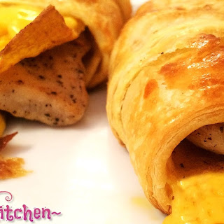Chicken Cheese & Egg Crescent Roll-ups.