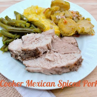 Paleo Mexican Spiced Pork Loin Slow Cooker.