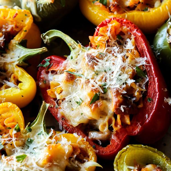 Cheesy Lasagna Stuffed Peppers Recipe