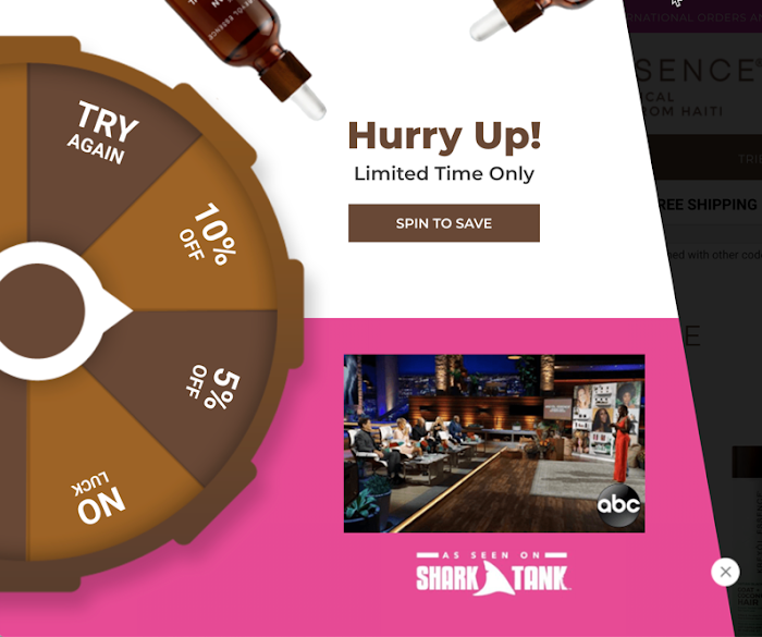 Kreyol Essence's spin the wheel form.