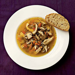 Wild Rice and Mushroom Soup with Chicken