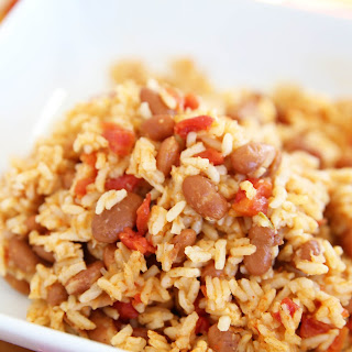 Pressure Cooker Mexican Rice & Beans.