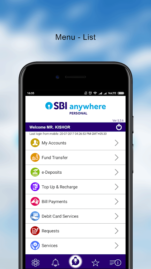 how to change sbi mobile banking user id