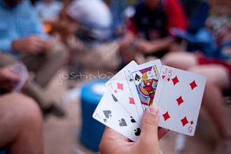 Photo: Playing cards while rafting the Grand Canyon. Grand Canyon National Park, AZ.
