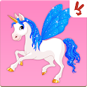 Unicorn memory game for kids icon
