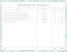 September Budget - Budget Planner item