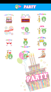Party Sticker GIF Free screenshot 6