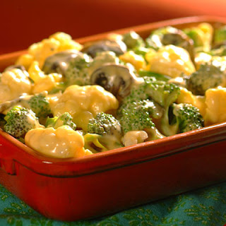 Vegetable Florets with Cheddar Sauce