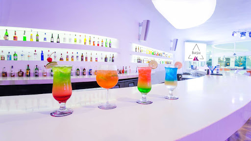 Some of the cocktails served at the stylish Bash bar at Temptation Cancun Resort.