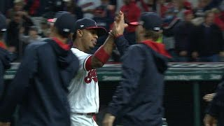 18! Tribe climbs atop AL on 5th straight sweep