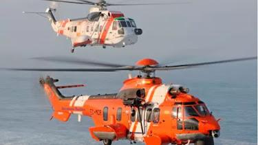 Helicóptero de Salvamento Marítimo.