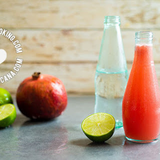 Sparkling Pomegranate and Watermelon Limeade