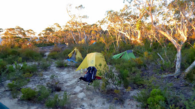 Photo: Campsite along the walls (rocky with some sandy sections)