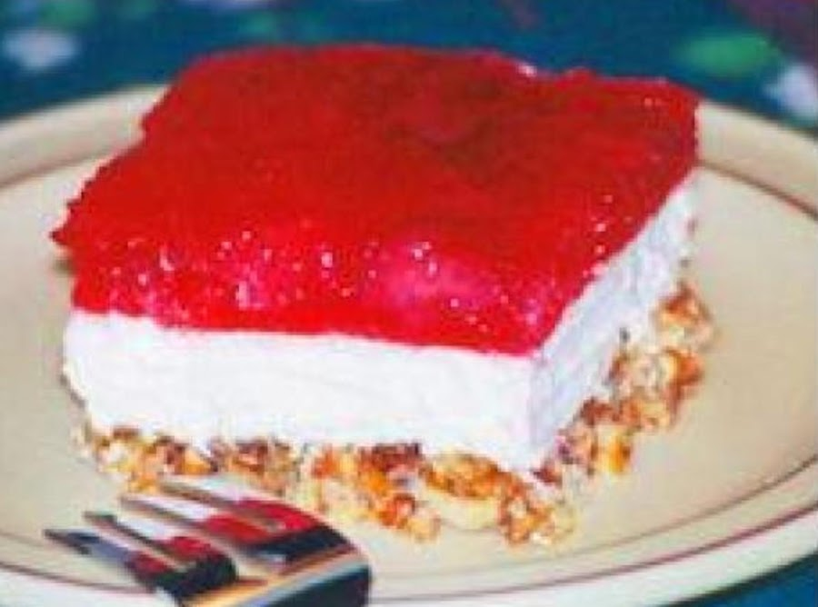 Mexican Jello Cake Recipe: Strawberry Jellopretzel Dessert Recipe