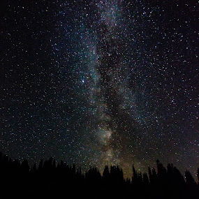 Milky Way at Tipsoo Lake by Steve Fisher - Landscapes Starscapes (  )