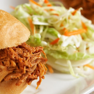 Shredded Slow Cooker Chicken with BBQ Sauce.