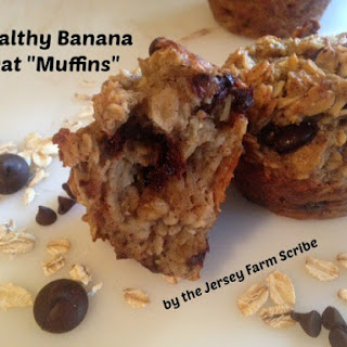 Healthy Banana Oat Muffins.