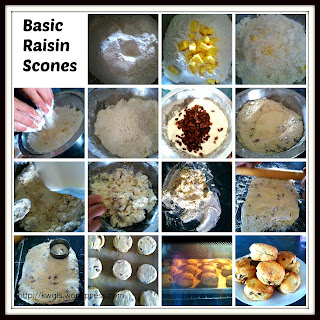 Basic But Presentable, Basic But Irresistible…Basic Raisin Scones Shared… (葡萄干司康).