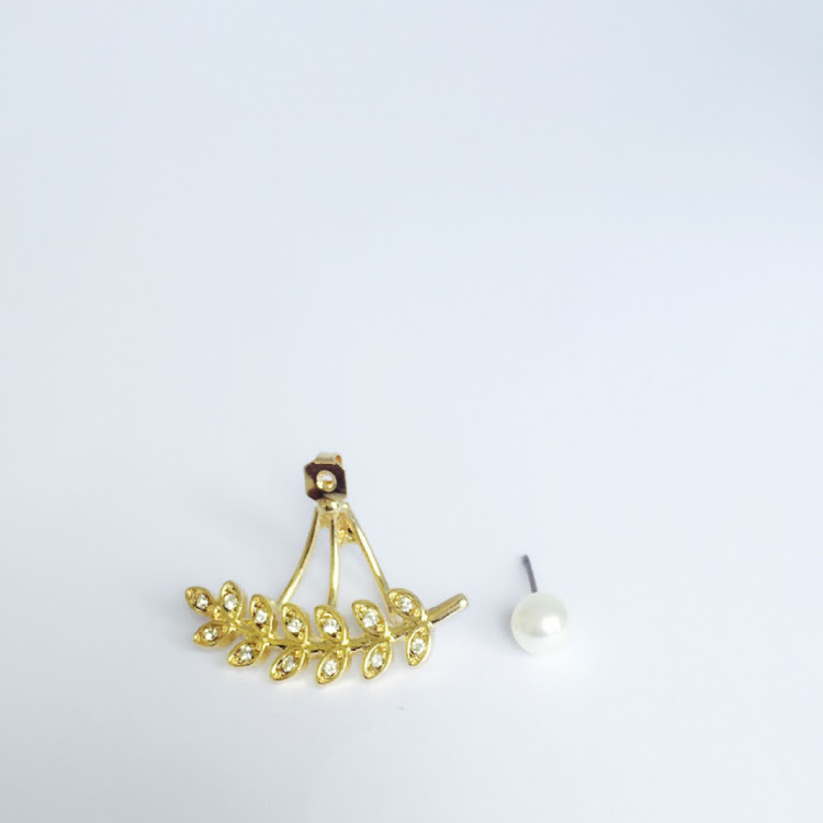 E046 - G. Lady of the Leaf Ear Jacket Earrings