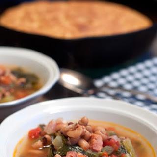 Creole Black Eyed Pea Soup.