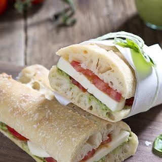 Garden Pesto Tomato Mozza Sandwich