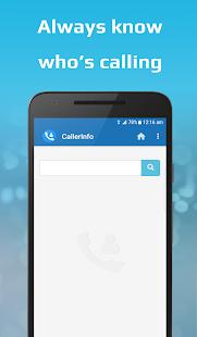 CallerInfo: Caller ID, Number lookup, Number book 1