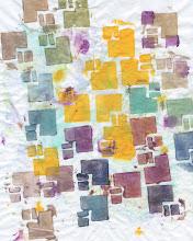 Photo: 3/18/12 Burgundy blocks. Foam blocks on deli paper.