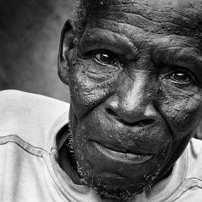 Kenyan Grandpa by Justin Bowen - People Portraits of Men ( old guy, kenyan )
