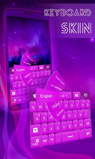 鍵盤皮膚紫