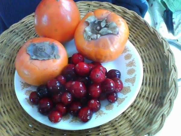 Cranberry Persimmon Nut Bread Recipe