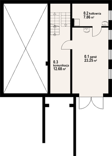 Jaworki 9m - Rzut piwnicy
