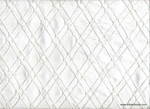 Photo: Pintuck Silk - White Pintuck (diamond beaded) CB 05