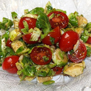 Chopped Brussel Sprout & Tomato Salad.