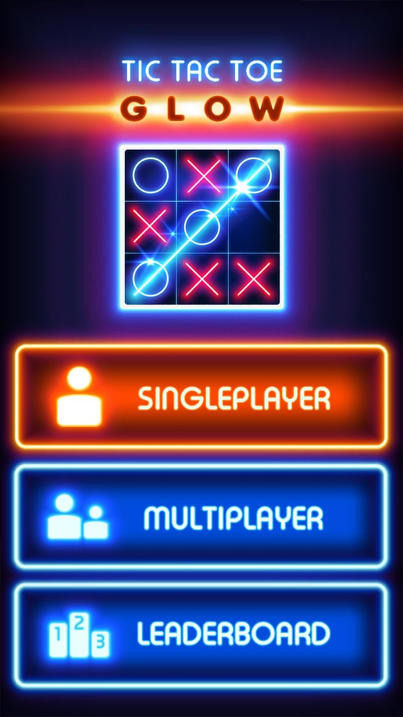 Tic Tac Toe Glow APK Cracked Free Download   Cracked Android Apps