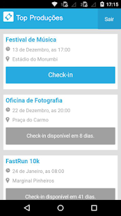 Check-in AppTicket: miniatura da captura de tela