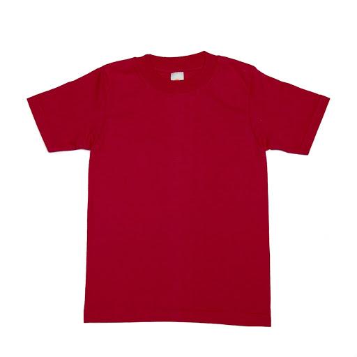 Franela Roja Cuello Redondo Talla 4