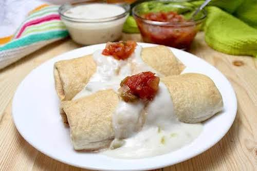 "Baked Chicken Chimichangas ""Love, love, loved this. This was so good! My..."