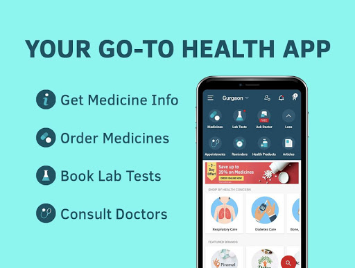 1mg - Online Medical Store & Healthcare App 10.7.2 screenshots 1
