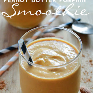 Peanut Butter Pumpkin Smoothie.