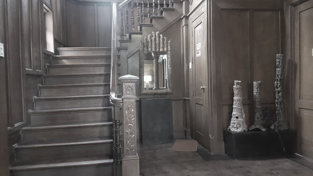 LAPERAL MANSION STAIRS FROM THE LIVING ROOM