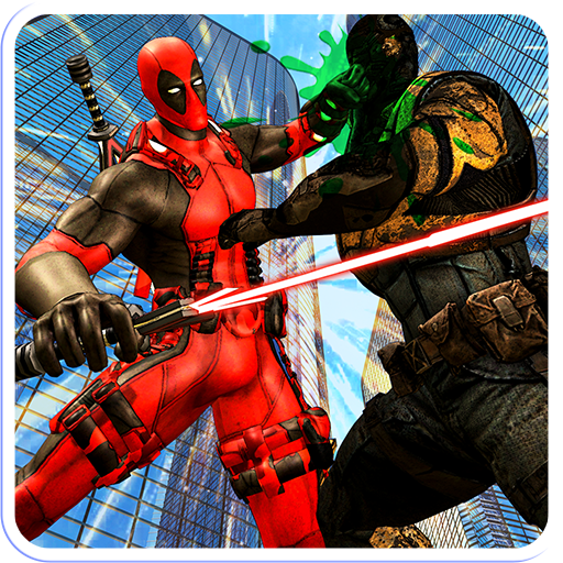 Cable Time hero vs Dual Sword Superhero Combat Icon