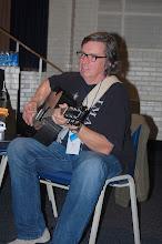 Photo: Paul tunes up.
