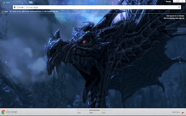 1366x768 dragon fire skyrim - photo #8