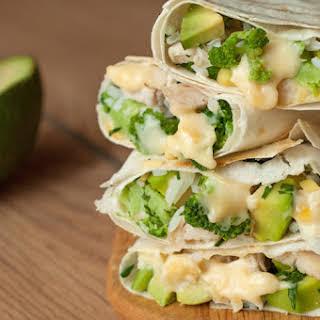 Healthy Chicken Burrito Wraps.