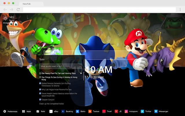 Sonic Pop Cartoon HD New Tabs Theme