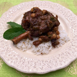 Moroccan Lamb Shanks with Apricots.