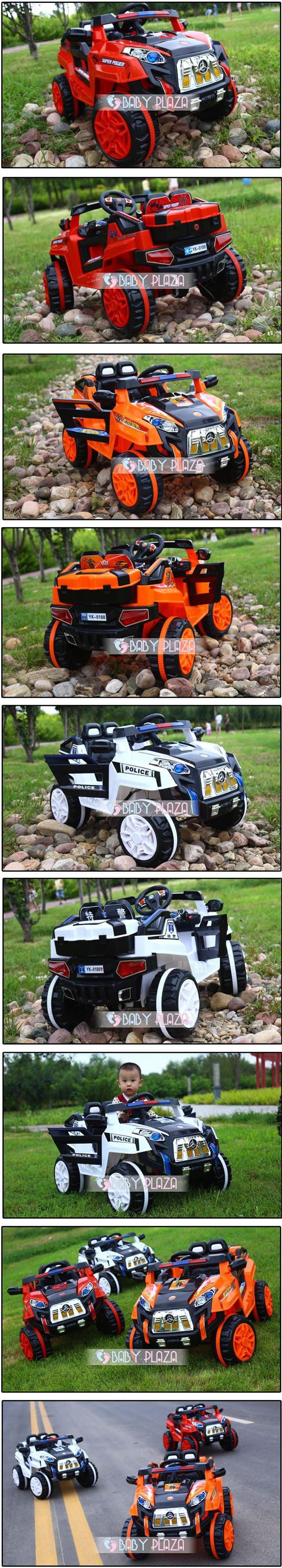 Xe oto điện cảnh sát Jeep YK-0188 11