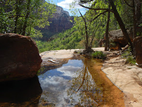 Photo: Reflection in Emerald Pool