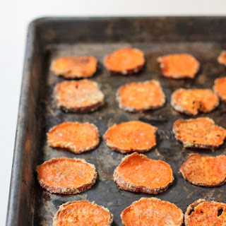 Parmesan Garlic Baked Sweet Potato Chips Recipe