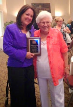 Photo: Mary Mula with Dory Larsen at the Rotary Club of DeBary-Deltona-Orange City Installation Banquet on June 20, 2014. Mary is the latest  recipient of the Lloyd Larsen Rotarian of the Year Award.
